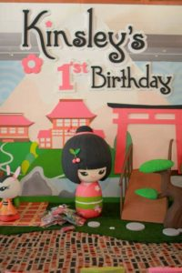 Kinsley's Japanese Kokeshi Doll Themed Party – 1st Birthday