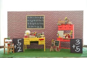 Brandon and Olivia's Back-to-School Themed party – 1st Birthday