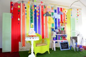 Kirsten's Colorful Raindrops Themed Party – 1st Birthday