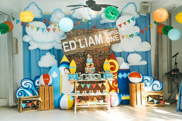 Liam S Little Surfer Themed Party 1st Birthday Party
