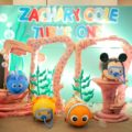 under the sea disney tsum tsum theme party stage