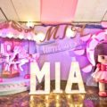 dainty carnival theme party stage