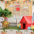 snoopy peanuts and the gang theme party stage