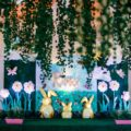 bunny in the meadow theme party stage