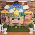 peppa pig theme party stage