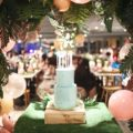 chic tropical theme party cake