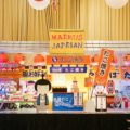 japanese fair market theme party stage cake