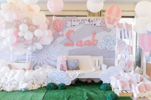 Saab's Dainty Hot Air Balloon Themed Party – 1st Birthday
