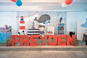 Freyden's Little Blue Whale Themed Party – 1st Birthday