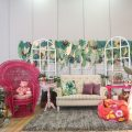 Tropical Glam Theme Party Stage