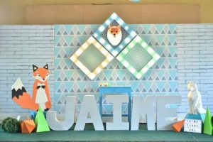 Jaime's Geometric Fox Themed Party – 1st Birthday