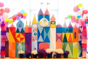 "Mikel and Mishka's Geometric ""It's a Small World"" Themed Party – 1st Birthday"