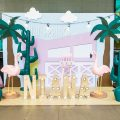 flamingo theme party stage