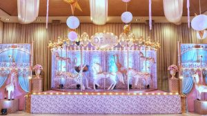 Demi's Gorgeous Floral Carousel Themed Party – 1st Birthday