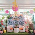 tropical flamingo theme party