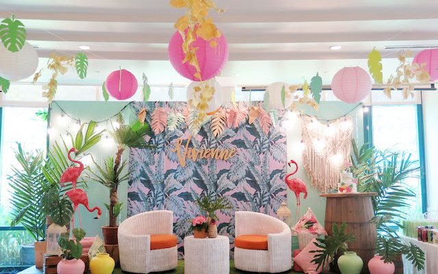 Vivienne's Tropical Pink Flamingo Themed Party – 1st Birthday