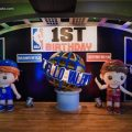 basketball theme party stage