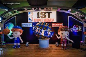 Anjello's NBA Themed Party – 1st Birthday
