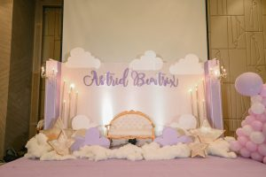 Astrid's Starry Lavender Dream Themed Baptismal Celebration