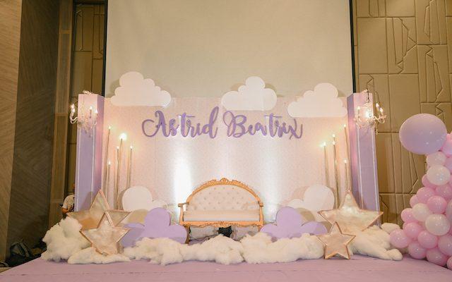 Astrid's Starry Lavender Dream Themed Baptismal Celebration