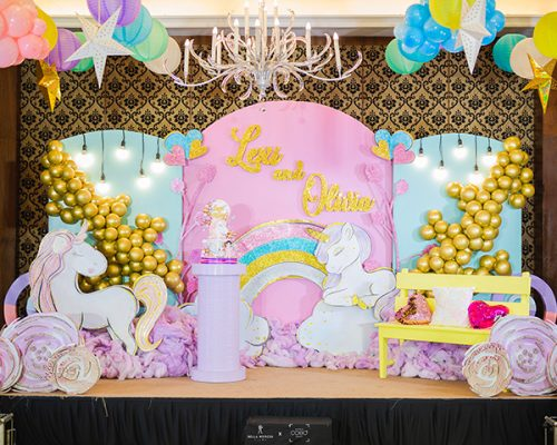 Lexi and Olivia's Sparkly and Fab Unicorn Themed Party