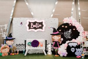 Bella's Pink Halloween Themed Party – 1st Birthday