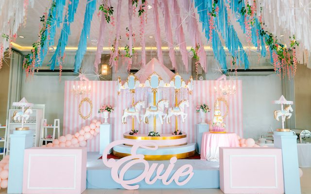 Evie's Grand Carousel Themed Party – 1st Birthday