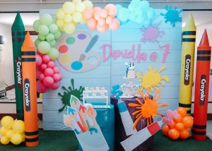 Daniella's Colorful Art Attack Themed Party – 7th Birthday